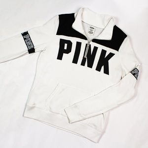 Pink Victoria's Secret Quarter Zip Sweater